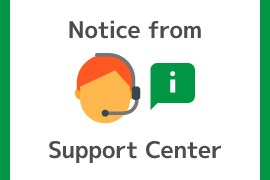 Notice from support center
